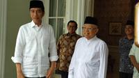 Jokowi bertemu dengan Ma'ruf Amin. (Liputan6.com/Putu Merta Surya Putra)