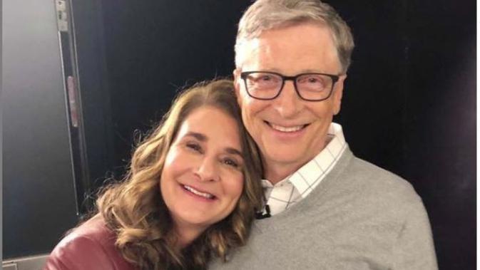 Melinda Gates dan Bill Gates. (dok.Instagram @thisisbillgates/https://www.instagram.com/p/B1MAB9TA6lh/Henry)