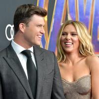 Colin Jost dan Scarlett Johansson hadir di world premiere Avengers: Endgame di Los Angeles, Amerika. (Amy Sussman / GETTY IMAGES NORTH AMERICA / AFP