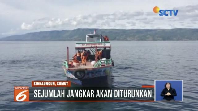 Tim Basarnas kerahkan kekuatan cari korban di titik koordinat karamnya Kapal Motor Sinar Bangun yang tenggelam di Danau Toba.