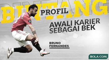 Berita video profil bintang kini menampilkan Bruno Fernandes, gelandang andalan Manchester United yang pernah menjadi bek.