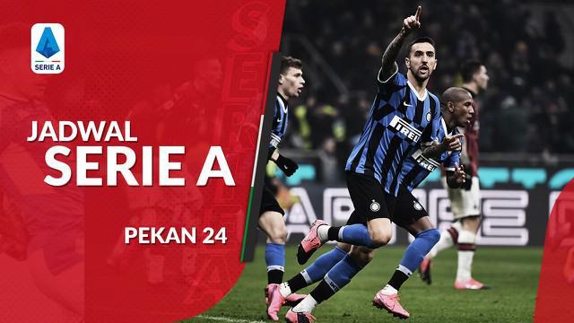 Berita video jadwal Serie A 2019-2020 pekan ke-24. Perebutan puncak klasemen Lazio vs Inter Milan, Senin (17/2/2020) di Stadion Olimpico, Roma.
