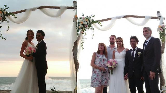 jadi viral pria lombok nikahi bule cantik (foto: Facebook/chungky.fungky.3)