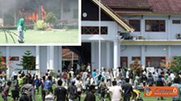 Citizen6, Bima: Massa Front Anti Tambang (FRAT) melakukan demo yang menuntut agar di cabutnya izin PT Sumber Mineral Nusantara. (Pengirim: Sirlan Firdaus)