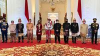 Bamsoet usai menjadi pembaca  Teks Proklamasi dalam Upacara Peringatan Detik-Detik Proklamasi Indonesia, di Istana Negara (Foto:MPR)