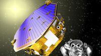 ilustrasi misi LISA Pathfinder untuk mendeteksi gelombang gravitasi (sumber: engadget.com)