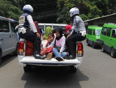 Sopir Angkot di Bogor Mogok