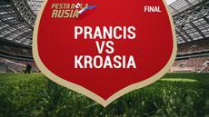 Timnas Prancis menjadi juara dunia usai menaklukkan Kroasia dengan skor 4-2.