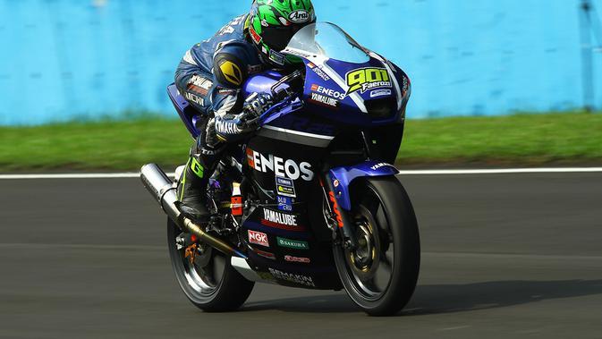 M Faerozi mampu finis di posisi keenam meski start dari posisi ke-11 (dok: Yamaha)