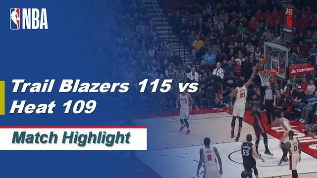 Berita Video Highlights NBA 2019-2020, Portland Trail Blazers Vs Miami Heat 115-109