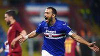 1. Fabio Quagliarella (Sampdoria) - 26 Gol (9 Penalti). (AFP/Marco Bertorello)