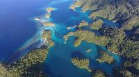 Kepulauan Gurici, salah satu spot menyelam di Halmahera Selatan yang menjadi tempat favorit untuk menemui Manta. (dok. Dinas Pariwisata Halmahera Selatan/Dinny Mutiah)