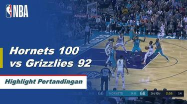 Kemba Walker memanas dengan 23 poin saat Hornets mengungguli Grizzlies pada Jumat malam, 100-92.