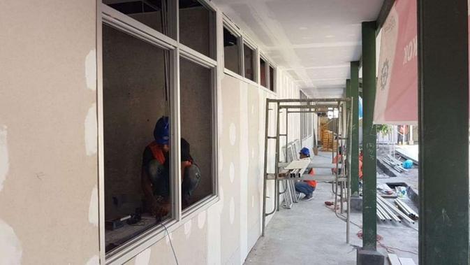 Kementerian PUPR mempercepat pembangunan fasilitas observasi, penampungan atau karantina untuk pengendalian infeksi penyakit menular, utamanya COVID-19 (Corona) di Pulau Galang, Kota Batam. (Dok Kementerian PUPR)