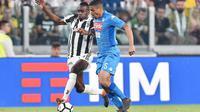 Napoli menang 1-0 atas Juventus dalam laga pekan ke-34 Serie A, di Stadion Allianz, Minggu (22/4/2018) atau Senin dini hari WIB. Juventus (AP/ALESSANDRO DI MARCO)