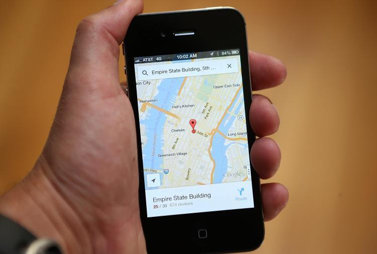 Ilustrasi aplikasi pelacak lokasi di smartphone. (Doc: NY Daily News)