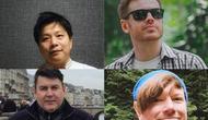 4 Bule ini belajar bahasa jawa hingga fasih, dari atas kiri: Naohiru Katsumata (Jepang), Dave Jephcott (Australia), Ralph Scheunemann (Jerman), Natan Bayo (Australia).