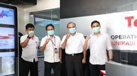 Kiri ke kanan: Victor Tobing (Kepala Pusat Operasi Keamanan Siber Nasional BSSN), Sukardi Silalahi (Direktur Utama Telin), Hinsa Siburian (Kepala BSSN), dan Jimmi Adiguna Kembaren (Komisaris Telin) di Jakarta, Kamis (24/9). (Ist)