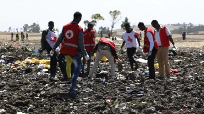 Lokasi jatuhnya maskapai Ethiopian Airlines (AFP)