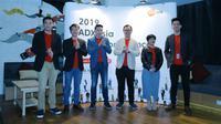 Tim Adx Asia hadir di acara konferensi pers Kampanye Jadi Pemenang