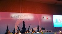 Wapres JK menghadiri acara Sidang Umum Interpol di Bali.