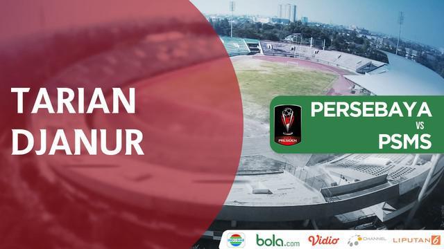 Pelatih PSMS, Djadjang Nurdjaman, menari usai Tim Ayam Kinantan lolos ke semifinal Piala Presiden 2018.