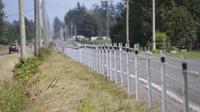 Pagar kabel terlihat sepanjang perbatasan antara Kanada dan Amerika Serikat (AS) di Aldergrove, British Columbia, Kanada, 23 Agustus 2020. AS membangun pagar kabel di beberapa bagian perbatasan antara Negara Bagian Washington dengan Provinsi British Columbia.(Xinhua/Liang Sen)