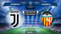 Jadwal Liga Champions 2018-2019, Juventus vs Valencia. (Bola.com/Dody Iryawan)