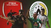 Piala Menpora - Pemain PSM Makassar Vs PS Sleman (Bola.com/Adreanus Titus)