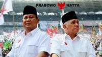 Prabowo Subianto dan Hatta Rajasa (Liputan6.com/Andri Wiranuari)