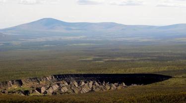 Kawah Batagaika atau Batagaika Crater menguak rahasia Bumi