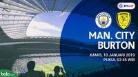 Piala Liga Inggris Manchester City Vs Burton (Bola.com/Adreanus Titus)