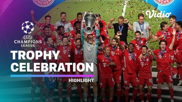 Berita Video Suasana Penyerahan Trofi Liga Champions Bayern Munchen, Manuel Neuer Pimpin Die Roten