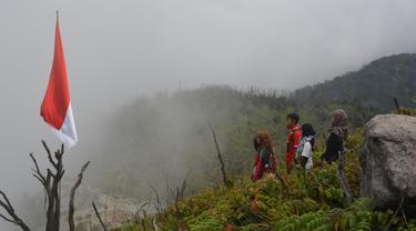 Gunung Talang di Kabupaten Solok. (Liputan6.com/ Novia Harlina)