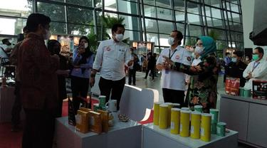 Kementerian Kelautan dan Perikanan (KKP) menyiapkan galeri #PasarlautIndonesia di pintu kedatangan Terminal 3 Bandara Internasional Soekarno Hatta.