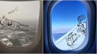 jendela pesawat kocak (Sumber: @goodandshiddy)