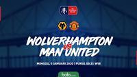 Piala FA: Wolverhampton vs Manchester United. (Bola.com/Dody Iryawan)