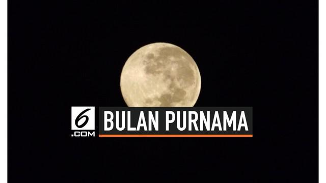Fenomena bulan purnama langka harvest moon akan muncul pada Jumat (13/9/2019) malam ini.