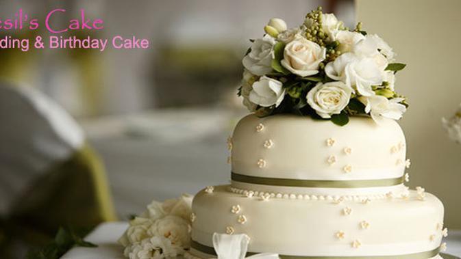 Wedding Cake Oleh Cesil S Cake Fimela Fimela Com