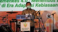 Menteri Kesehatan RI Terawan Agus Putranto saat membuka Edu Health Fair 2020, Pameran Pendidikan Poltekkes Kemenkes pada 5 November 2020. (Kementerian Kesehatan RI)