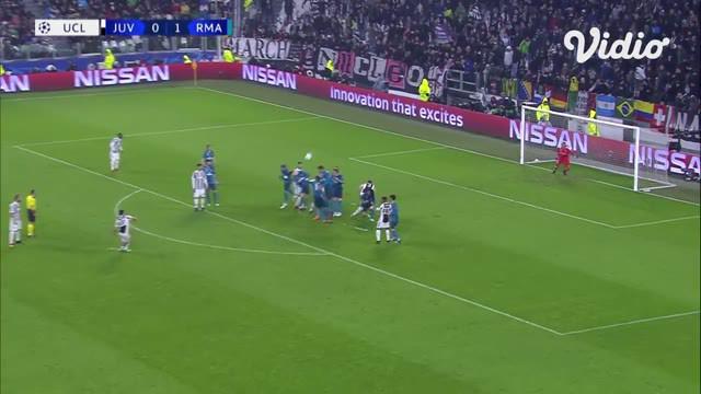 Berita Video Flashback Liga Champions, Gol Spektakuler Cristiano Ronaldo Menangkan Real Madrid Atas Juventus 3-0, Buffon pun Takjub