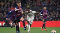 Barcelona menghadapi Real Madrid pada leg pertama semifinal Copa del Rey di Camp Nou, Rabu (6/2/2019) malam waktu setempat. (AFP/Lluis Gene)
