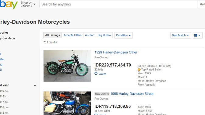 Cek Fakta: Skandal Harley yang Hempaskan Bos Garuda (eBay)