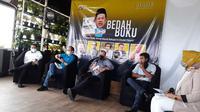 Acara bedah buku berjudul Buku Putih: Kronik Daulat Rakyat Vs Daulat Parpol karya Fahri Hamzah, yang diselenggarakan Party Watch (Parwa) Institute di Rocketz Café, Tebet, Jakarta Selatan, Jumat (30/4/2021). (Ist)