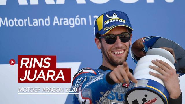 Berita video highlights MotoGP Aragon 2020, di mana Alex Rins menjadi juara dan Fabio Quartararo terpuruk di posisi ke-18, Minggu (18/20/2020) malam hari WIB.
