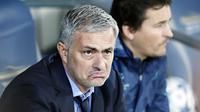 Jose Mourinho  disebut-sebut sebagai calon kuat pengganti Louis Van Gaal di MU.(AFP/Thomas Coex)
