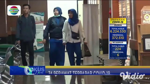 Jumlah perawat yang terpapar Covid-19 terungkap, setelah Persatuan Perawat Nasional Indonesia (PPNI) Jawa Timur menggelar halal bihalal online. Pertambahan terbaru berasal dari klaster Rumah Sakit Unair, dengan demikian perawat yang terpapar menjadi ...