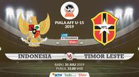 Piala AFF U-15 2019: Indonesia vs Timor Leste. (Bola.com/Dody Iryawan)