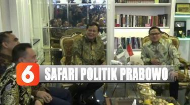 Prabowo menyebut safari politiknya ini untuk menghindari perpecahan pasca-pemilu.