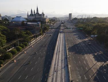 FOTO: Jumat Agung, Filipina Berlakukan Lockdown Ketat Terkait COVID-19